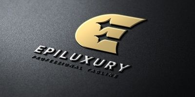 Luxury E Letter Logo