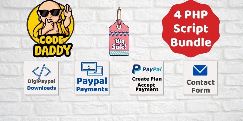 4 PHP Script Paypal Bundle Offer