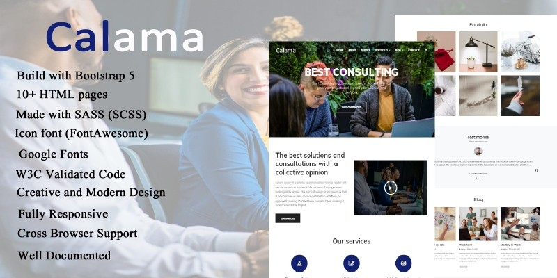 Calama - Business And Consulting HTML Template