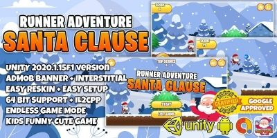 Santa Clause Runner Adventure - Unity Project