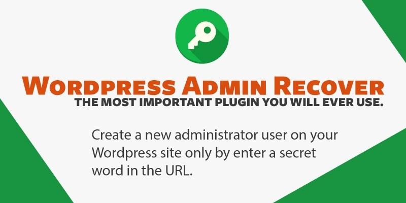WordPress Admin Recover Plugin