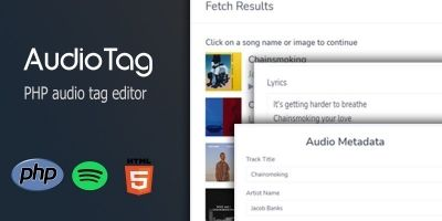 ​​AudioTag PHP Audio Tag Editor