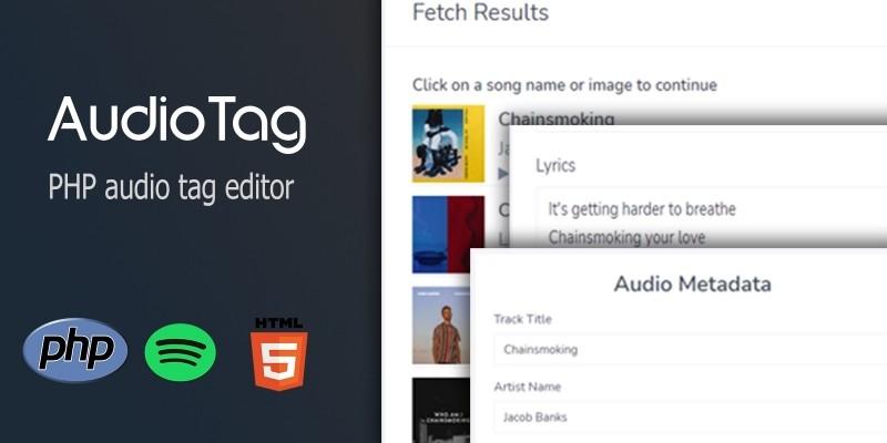 AudioTag PHP Audio Tag Editor