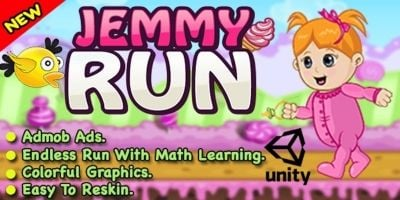 Jemmy Run - Unity Game For Android  And iOS