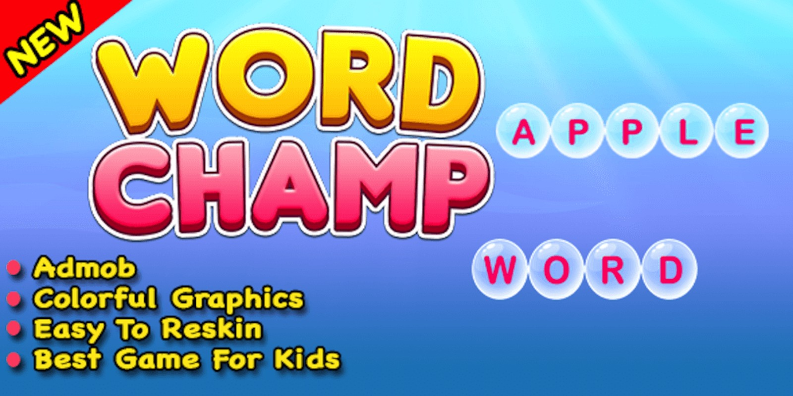 Word Champ - Word Typing Trivia Unity Game
