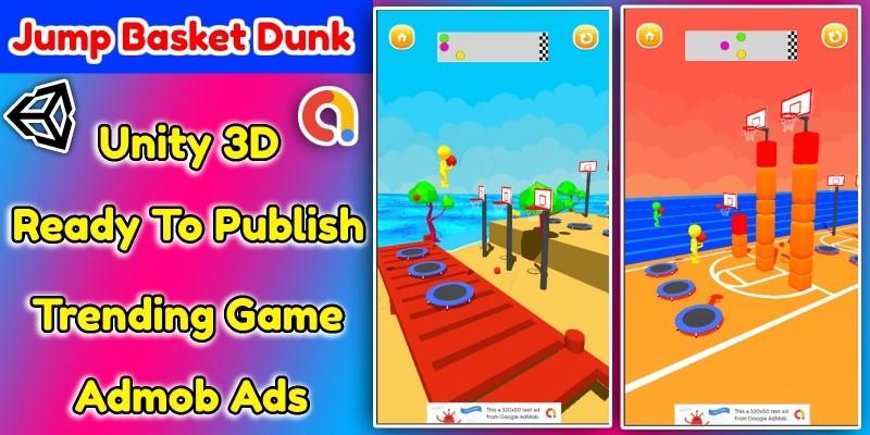 Jump Basket Dunk 3D Game Unity Source Code