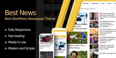 Best News - WordPress Newspaper Theme