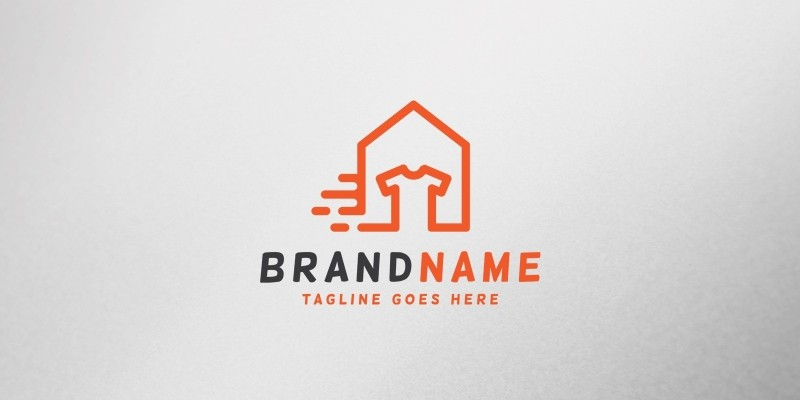 Laundry House Logo Template
