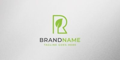 Eco Letter R Logo Template