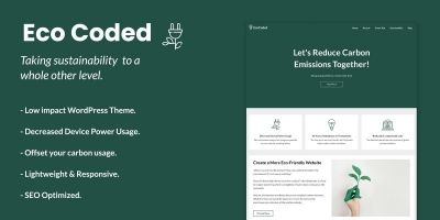 EcoCoded WordPress Theme