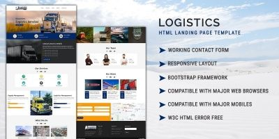 Logistics HTML Landing Page Template
