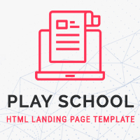 Play School HTML Landing Page Template