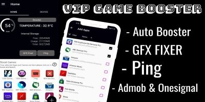 VIP Game Booster Clone - Full Android Source Code