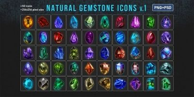 Natural Gemstone Icons