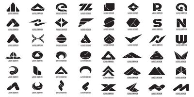 432 Black and white Logo Modern Shape Pack