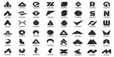 432 Black and white Logo Modern Shape Pack
