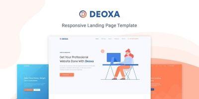 Deoxa - Angular 10 Landing Page Template