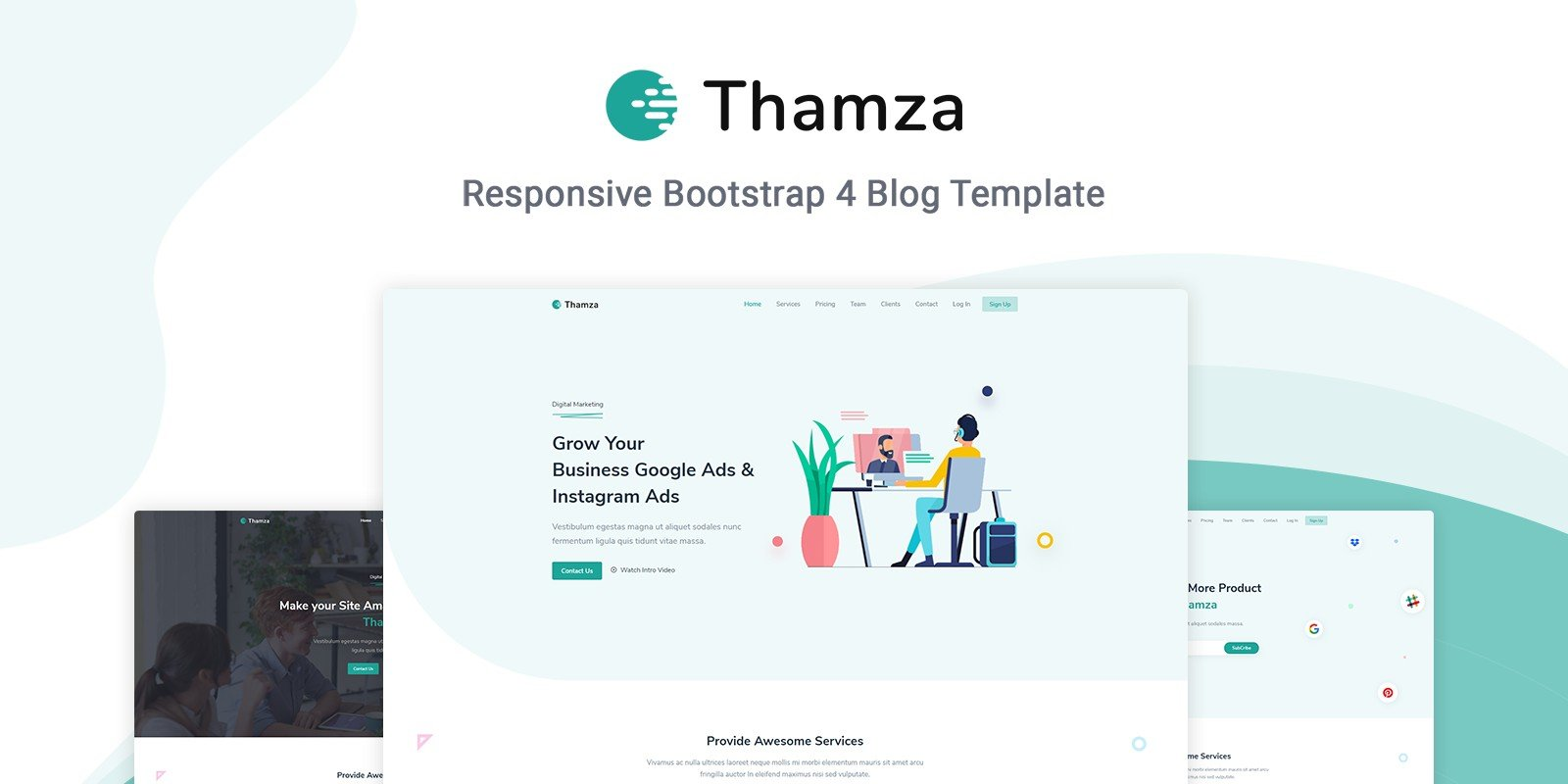 Thamza - Responsive Landing Page Template