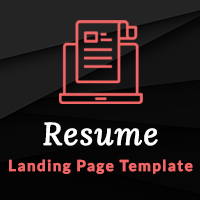 Resume – HTML Landing Page Template