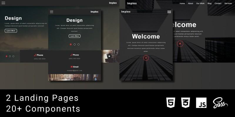 Implex - A Modern Web Template HTML