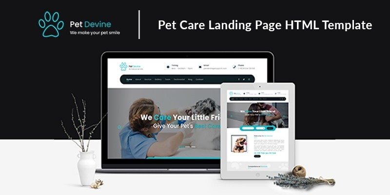 Pet Devine - Pet Care Landing Page HTML Template