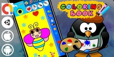 Coloring Book Portrait Unity Paint Kids Game