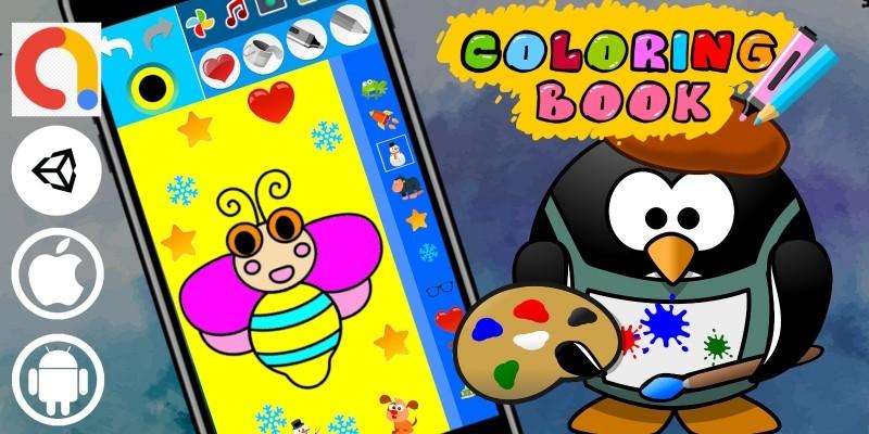 Coloring Book Portrait Unity Paint Kids Game