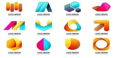 288 Color Modern Shape Logo