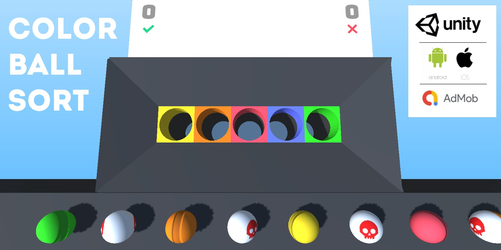 Color Sort 3D - Complete Unity Hyper Casual Game