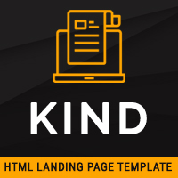 Kind – HTML Landing Page Template