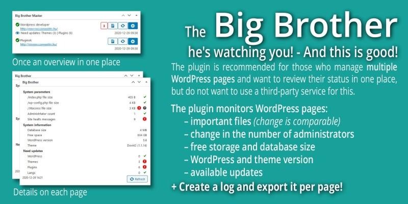 Big Brother - Managing Multiple WordPress Sites