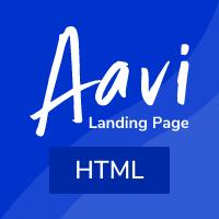 Aavi - App Landing page