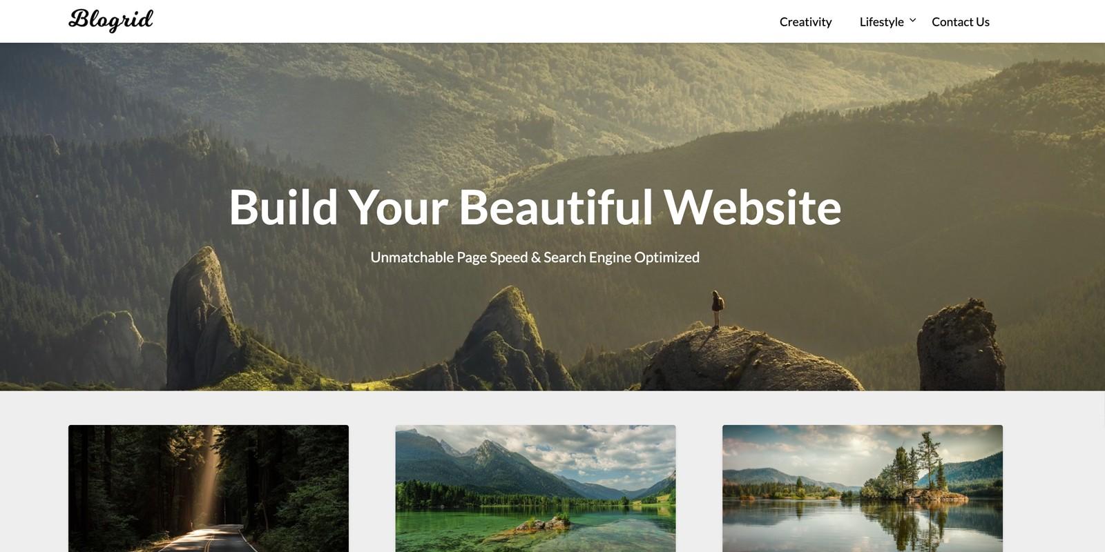 Blogrid WordPress Theme
