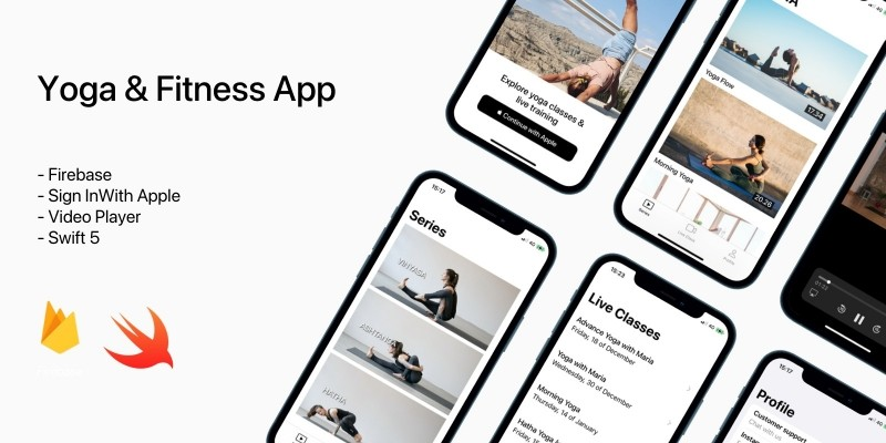 Yoga And Fitness App iOS Source Code