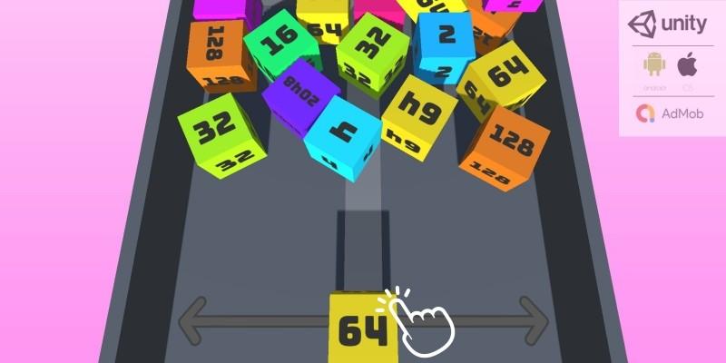 2048 Chain Cube Merge 3D Complete Unity Puzzle