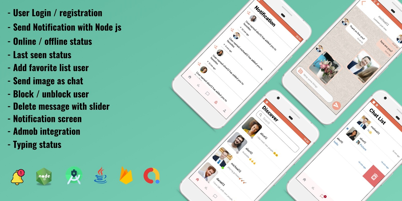 Firebase Random Chatting App For Android
