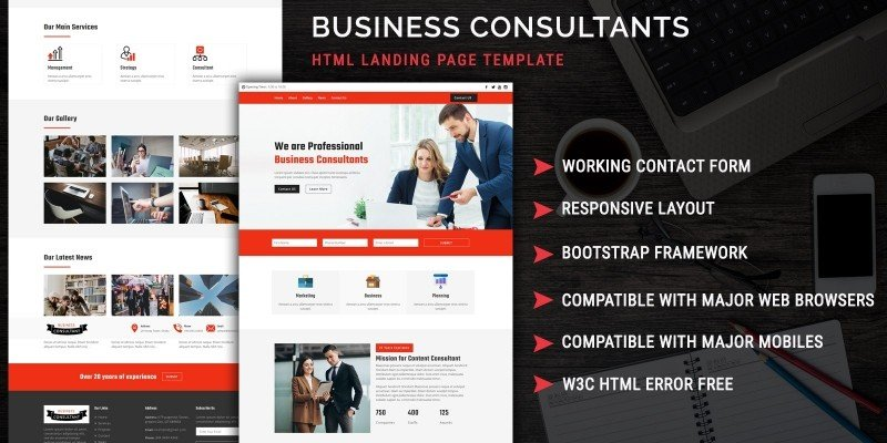 Consultant - HTML Landing Page Template