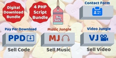 Digital Download Marketplace PHP Bundle Offer