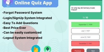 Quizzy - Online Quiz App Android Source Code