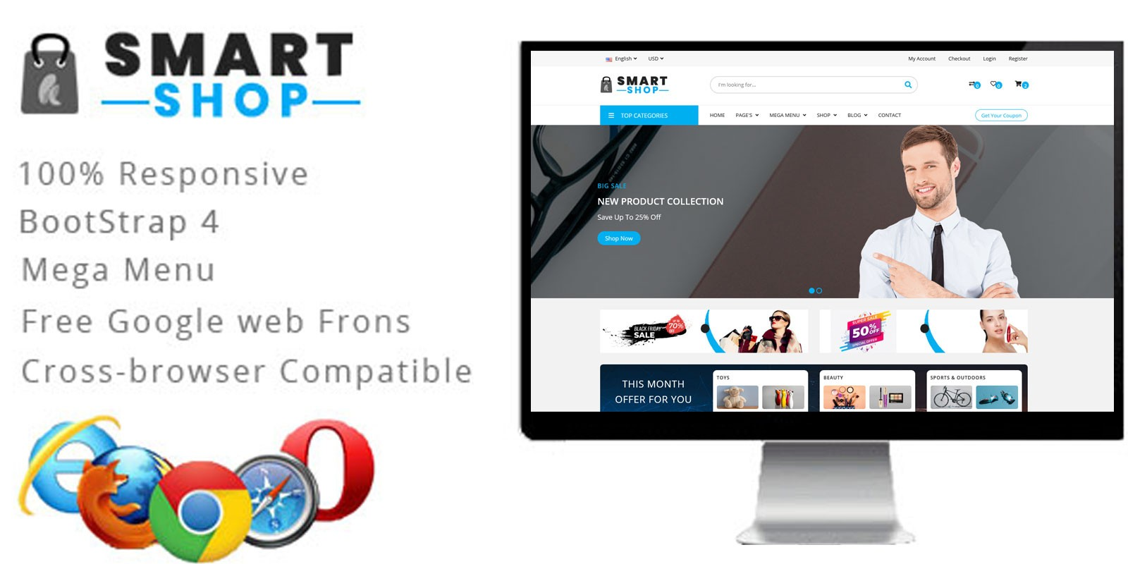 SmartShop Bootstrap HTML5 eCommerce Template