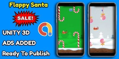 Flappy Santa Game Unity Source Code