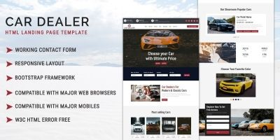 Car Dealer - HTML Landing Page Template