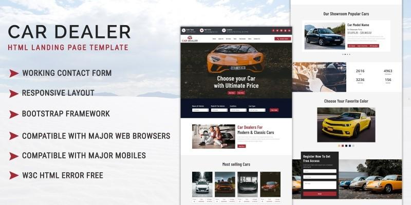 Car Dealer - HTML Landing Page Template