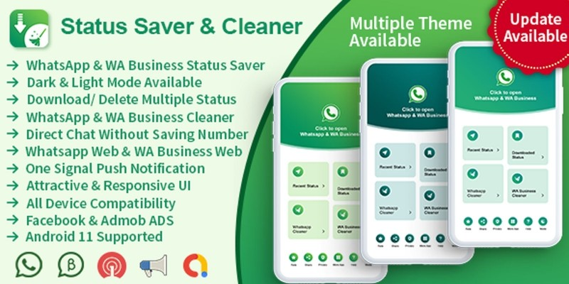 Status Saver And Cleaner - Android App Source Code