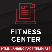 Fitness Center – HTML Landing Page Template
