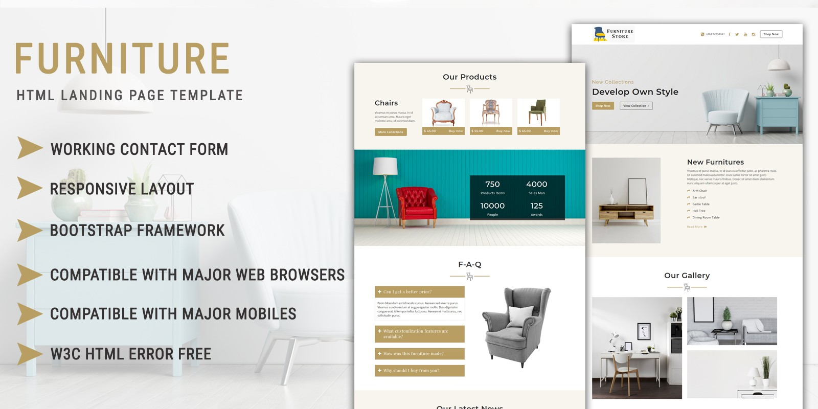 Furniture Store - HTML Landing Page Template