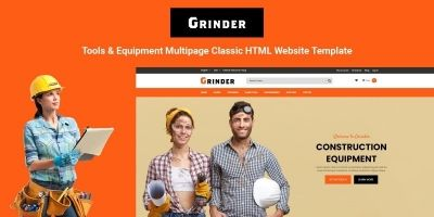 Grinder - Tools  And Equipment Classic HTML Page