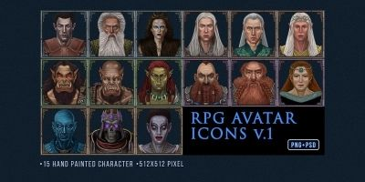 RPG Avatar Icons