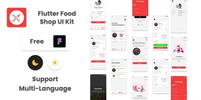 Flutter Food Shop UI Kit