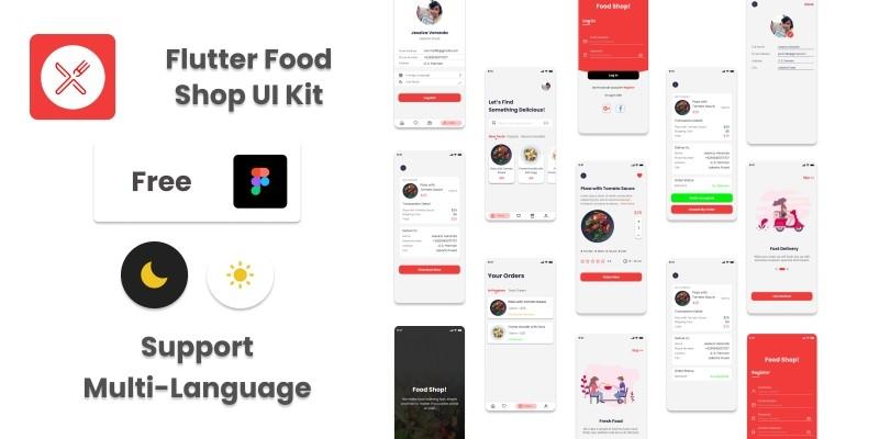 Flutter Food Shop UI Kit